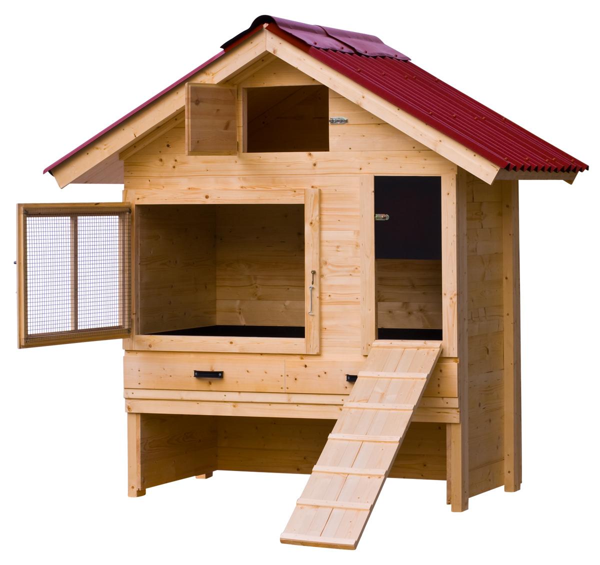 Hühnerstall mit Satteldach kaufen | Hühnerstall Discount ...